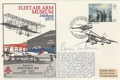 RNSC Fleet Air Arm Museum Concorde flown cover signed  Brian Trubshaw