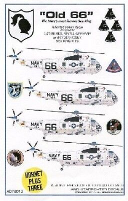 Starfighter Decals 7201 1/72 Old 66 SH3 Apollo Moon Missions Sea King Helicopter