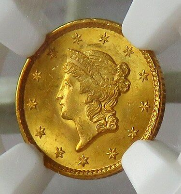 1851 US GOLD $1 Liberty NGC MS64 * NGC Value $1150 * Most recent sale = $1057
