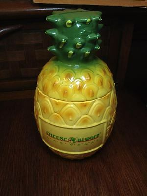 Vintage  Cheeseburger Las Vegas Plastic pineapple bank ,tiki decor,kitsch,retro
