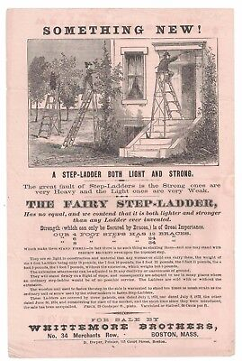 The Fairy Step-Ladder Whittmore Brothers Boston Broadside! 1874 Original