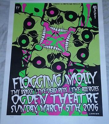 Flogging Molly concert poster from March 5th 2006. Artist Lindsey Kuhn