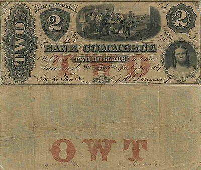 USA - 2 Dollars - 1861 - Bank of Commerce