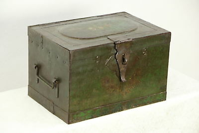 Victorian 1850's Antique Iron Railroad Strong Box, Treasure Chest or Safe