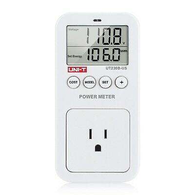 ZIBOO UNI-T UT230B-US Plug Energy Consumption Monitor LCD display 750 Reduce ...