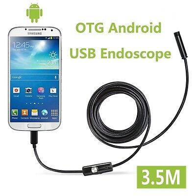 Fantronics 7mm Android Endoscope OTG Micro USB Endoscope Waterproof Borescope...