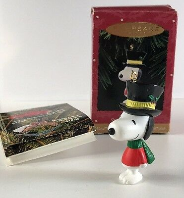 Hallmark Peanuts A Charlie Brown Christmas Ornament  Snoopy in Top Hat and Scarf