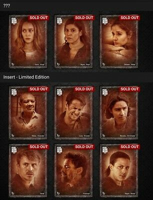 Topps Fear the Walking Dead MOOD Faded Complete Set with Awards *Digital Cards*