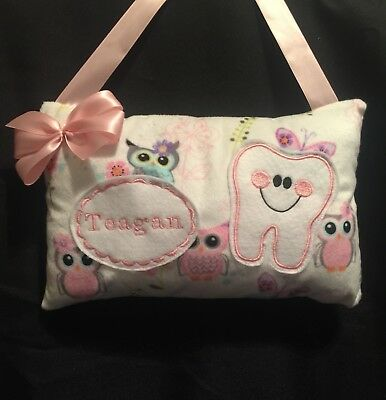 Handmade - Boy or Girl Tooth Fairy Pillow - Personalized - Fast Shipping