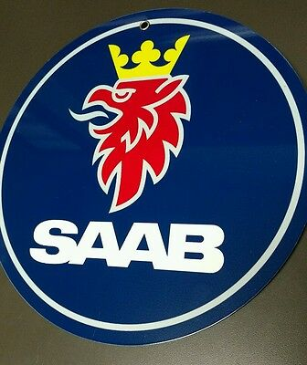 Saab advertising sign