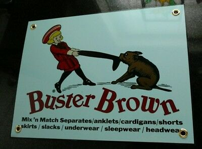 Buster brown shoes advertising sign...Americana Nostalgia