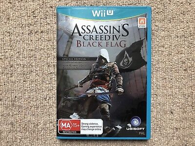 Assassins Creed IV Black Flag Special Edition - Wii U Complete Australian PAL