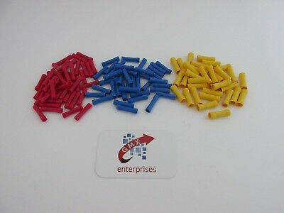 60 assorted butt connectors insulated crimp terminals for audiowires &electrical