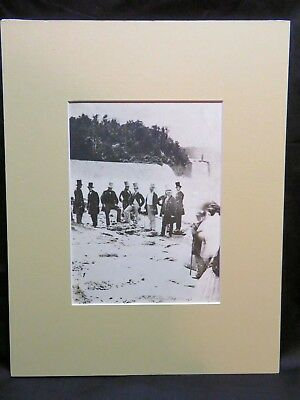 Vintage Photo Print, Visit of the Prince of Wales to Niagara Falls 1860