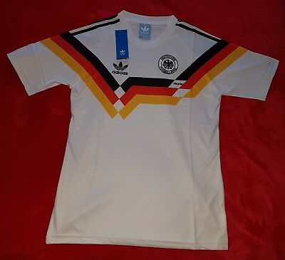 1990 West Germany home retro classic football shirt