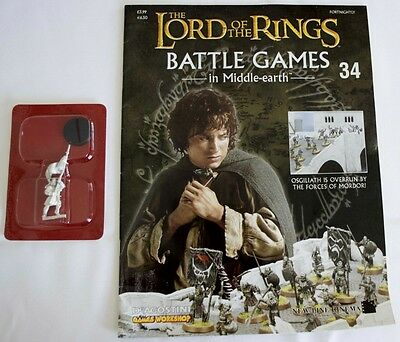 Lord Of The Rings:Battle Games In Middle-Earth–Issue #34 Magazine & miniatures