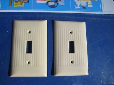 Vintage Old ***SIERRA ELECTRIC*** 1-Gang Toggle Switch Wall Plate Set of 2 USA