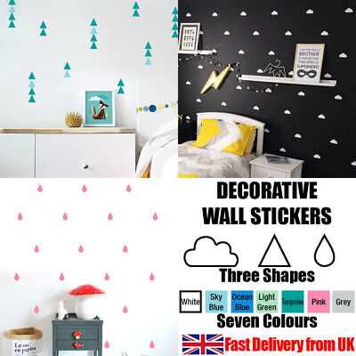 Quality Coloured Shaped Self Adhesive Removable Decorative Vinyl Wall Stickers