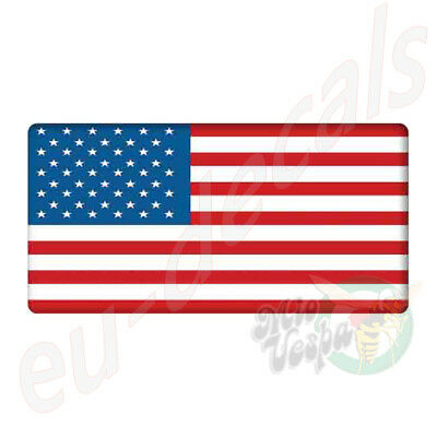 """USA American flag badge 3D Decal sticker 70mm/2.76"""" X 35mm/1.38"""" car/scooter/atv"""