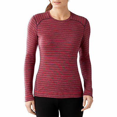Smartwool NTS MID 250 Pattern Crew Top, Womens Shirt, Aubergine Heather, XS