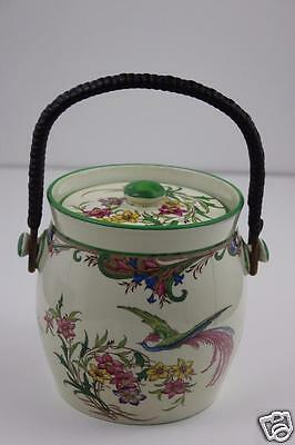 Minton Anthea Pattern 1930's Hand painted Biscuit Barrel 13x13cm