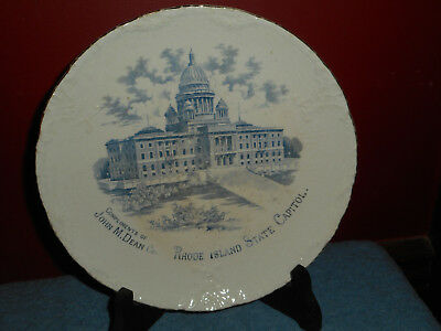 Antique RHODE ISLAND STATE CAPITOL Etruria-Mellor & Co. Ironstone China Plate