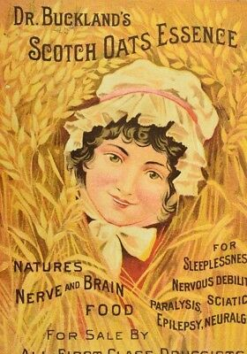 Dr. Buckland's Scotch Oats Essence, Cures Opium Habit Quack Medicine Card P50