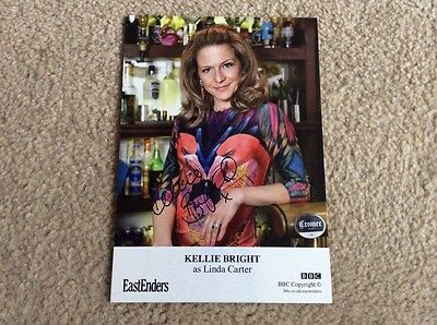 Kellie Bright As Linda Carter Bbc Eastenders Hand Signed Card  - Mint Condition