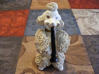 "Vintage Spaghetti Poodle Playing Clarinet 1950's ""rare"" Good Condition"