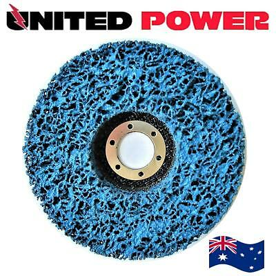 10 x 125mm x 22mm POLY STRIP DISC WHEEL PAINT RUST REMOVAL CLEAN GRINDER