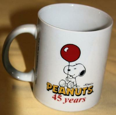 Peanuts 45 Years Charlie Brown A Friend Dance Handled Cup/mug - Excellent
