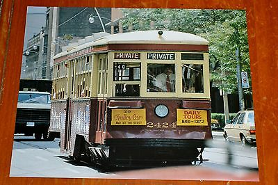 197Os PICTURE TTC TORONTO PETER WITT STREETCAR 2424 ON CHARTER IN YORK - VINTAGE