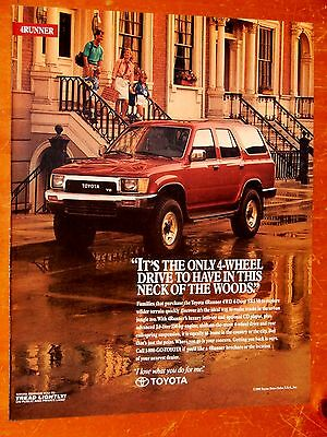 Gorgeous 1991 Toyota 4Runner Sr5 4X4 In Red American Ad - Retro 90S Suv
