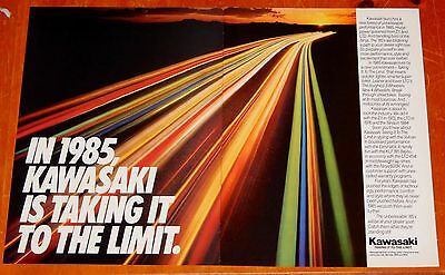 Awesome 1985 Kawasaki Motorcycles Taking It To The Limit Ad - Japanese Vintage
