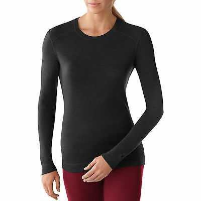 Smartwool NTS MID 250 Crew Top, Womens Shirt, Charcoal Heather, S