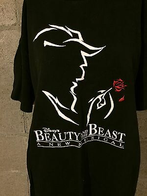 Beauty And the Beast Broadway Tee Disney Unisex LARGE. World Tour EUC