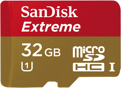 NEW Sandisk 2492234 Extreme 32GB Micro SD Memory Card
