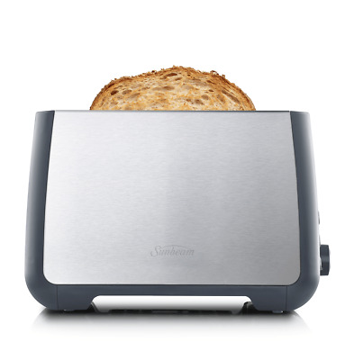 NEW Sunbeam TA4520 Long Slot Toaster 2 Slice - Stainless Steel