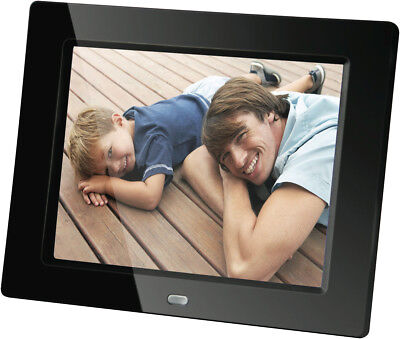"NEW Qpix DPF800BA 8"" Digital Photo Frame"