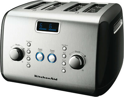 NEW KitchenAid 5AKMT423OB Artisan 4 Slice Toaster - Onyx Black