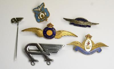 Vintage AUSTRALIAN AVIATION BADGES LOT-, Military RAAF Richmond, BALM RAN,ANA...