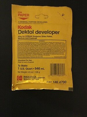 Kodak Dektol Developer To Make 1 Quart 146 4700