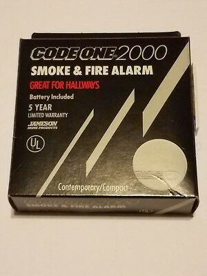 Code One 2000 Smoke & Fire Alarm RARE HARD TO FIND VINTAGE