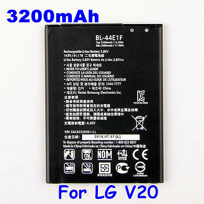 BL-44E1F 3200mAh Phone Battery For LG V20 H990N F800 Replacement Battery New