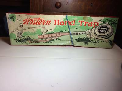 """Western Hand Trap """" White Flyer """" made in USA vintage hunting target practice"""