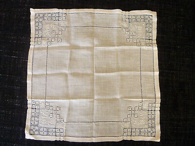 ANTIQUE VINTAGE HANDKERCHIEF HANKY WEDDING BRIDE open work lace doilie doily