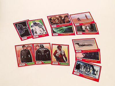 Star Wars Topps Trading Cards lot of 12 some shiny/mirror/foil