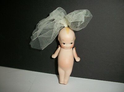 Kewpie Bride with hinged arms~ Porcelain Doll~ Cute Christmas Ornament