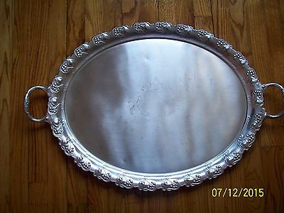 Vintage Silver Plate Very Large Tray