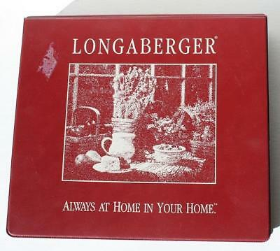 Longaberger Consultant 3-Ring Notebook Binder-Always at Home in Your Home-Burgan